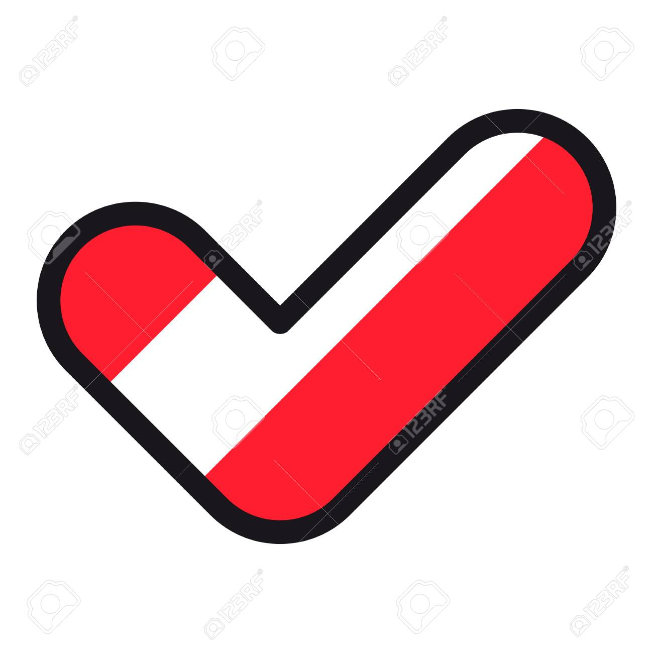 Flag Of Austria In The Shape Of Check Mark Vector Sign Approval