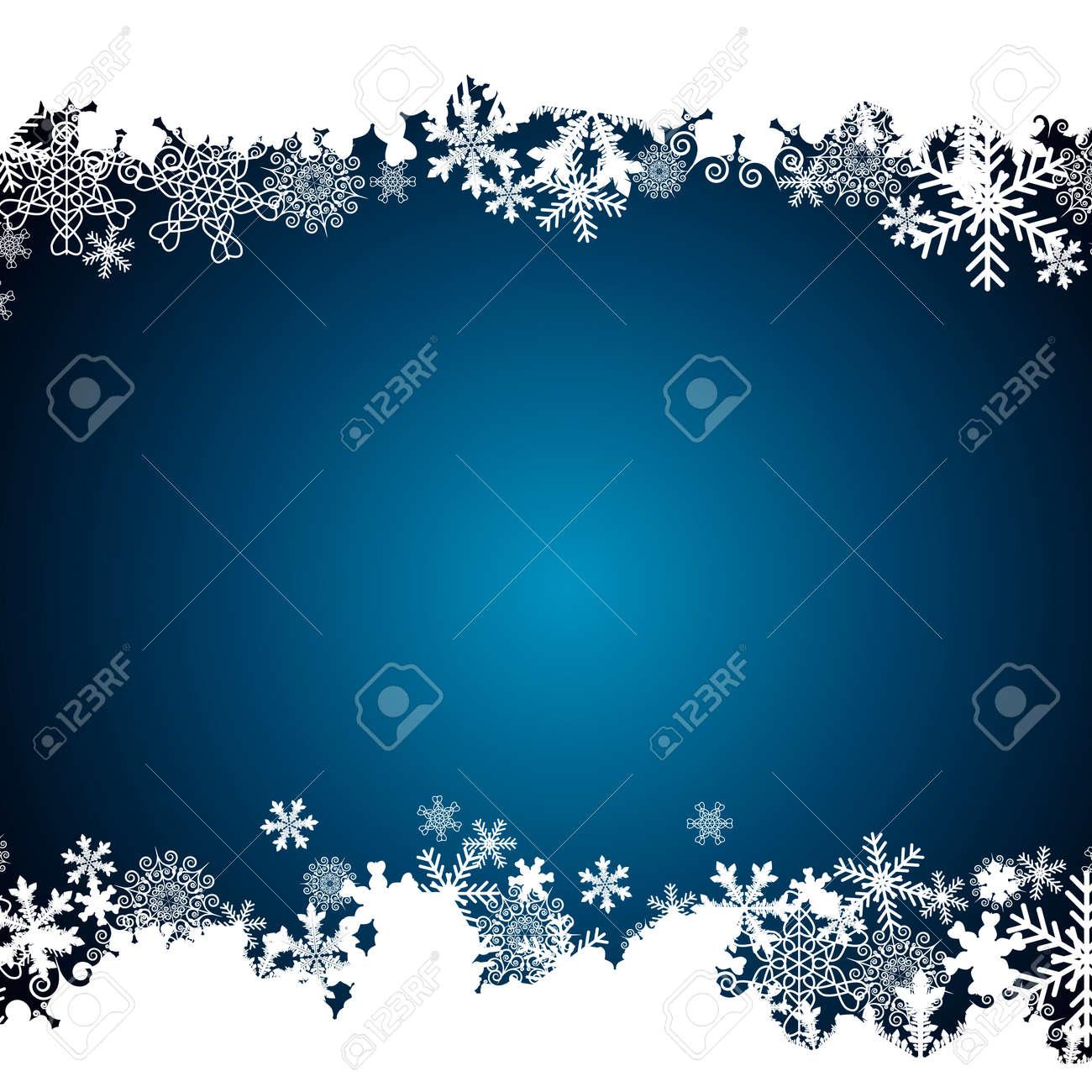Christmas border, snowflake design background. - 156079867