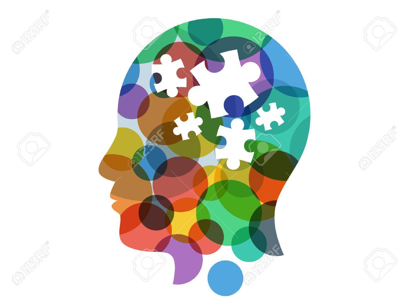Spectrum puzzle head presentation vector - 30471503
