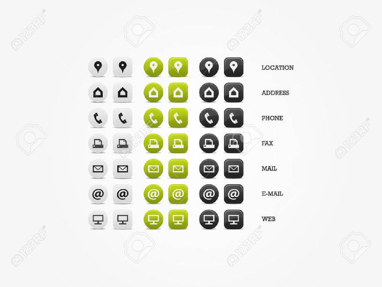 Multipurpose Business Card Icon Set of web icons for business, finance and communication - 31590500