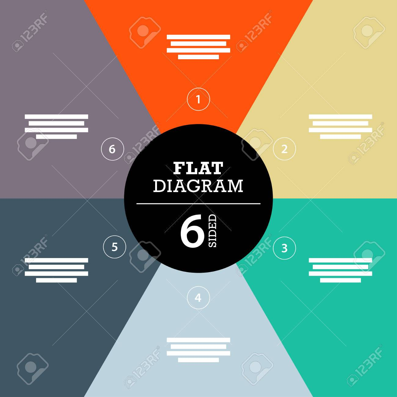 Colorful full background stripe puzzle presentation diagram infographic template with explanatory text field - 31590504