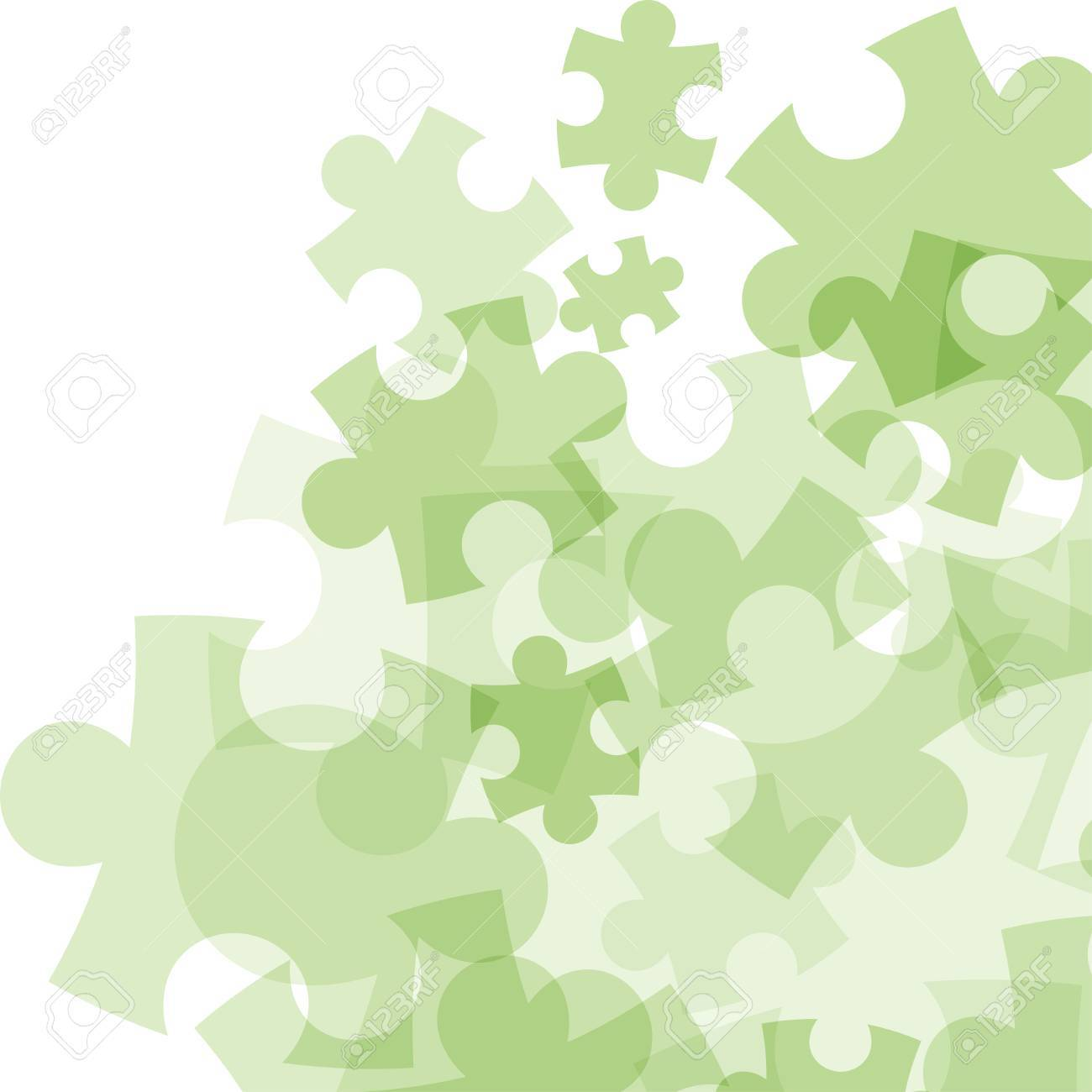 Abstract monocolor puzzle background. Vector graphic template. - 41742292
