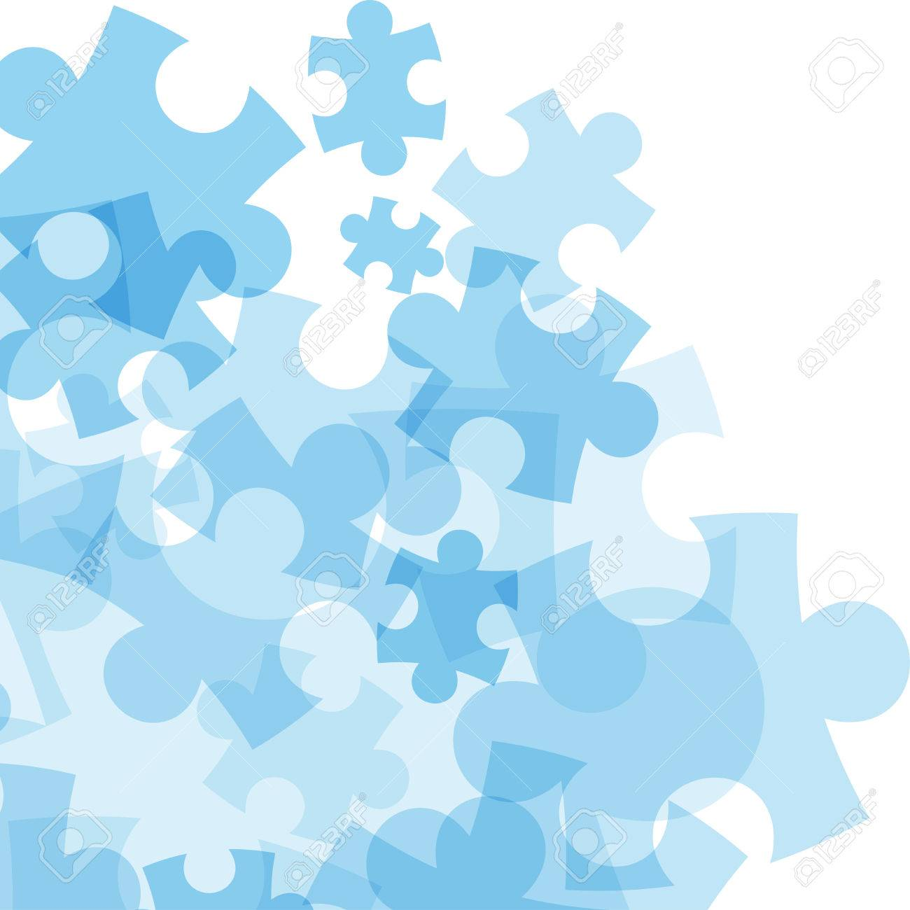 Abstract monocolor puzzle background. Vector graphic template. - 41742294