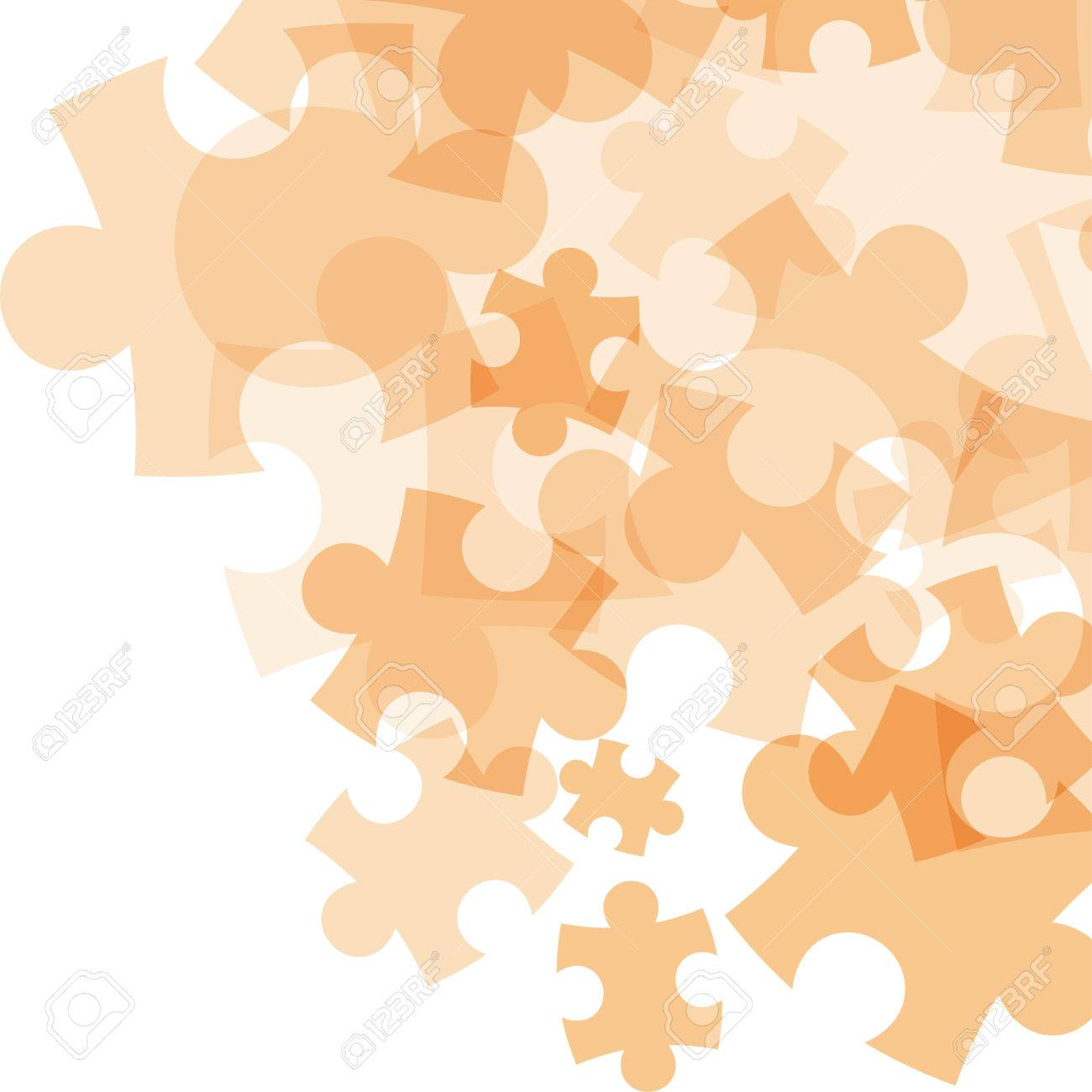 Abstract monocolor puzzle background. Vector graphic template. - 41742524
