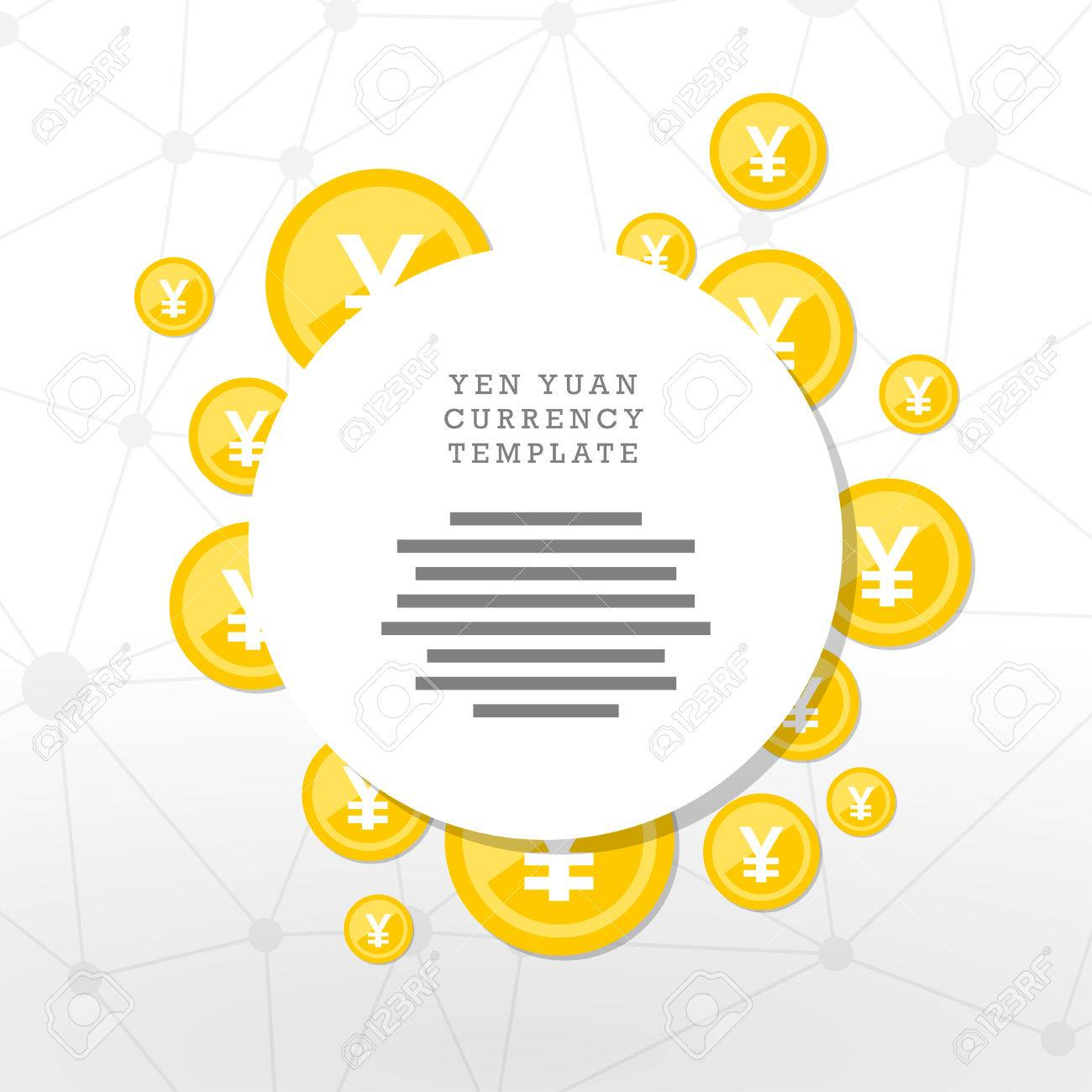 Mainstream currency gold coins. Money concept illustration. Vector graphic template. - 41742528