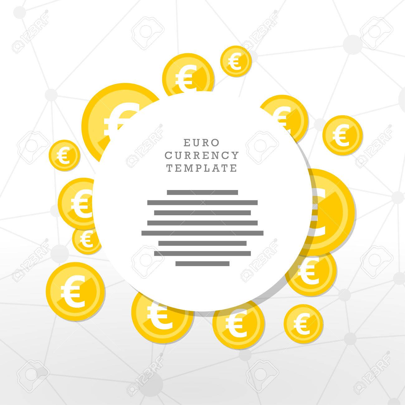 Mainstream currency gold coins. Money concept illustration. Vector graphic template. - 41742533