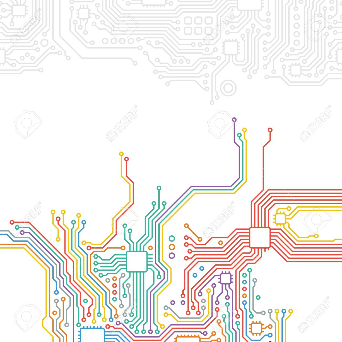 High-tech technology abstract background. - 41727833