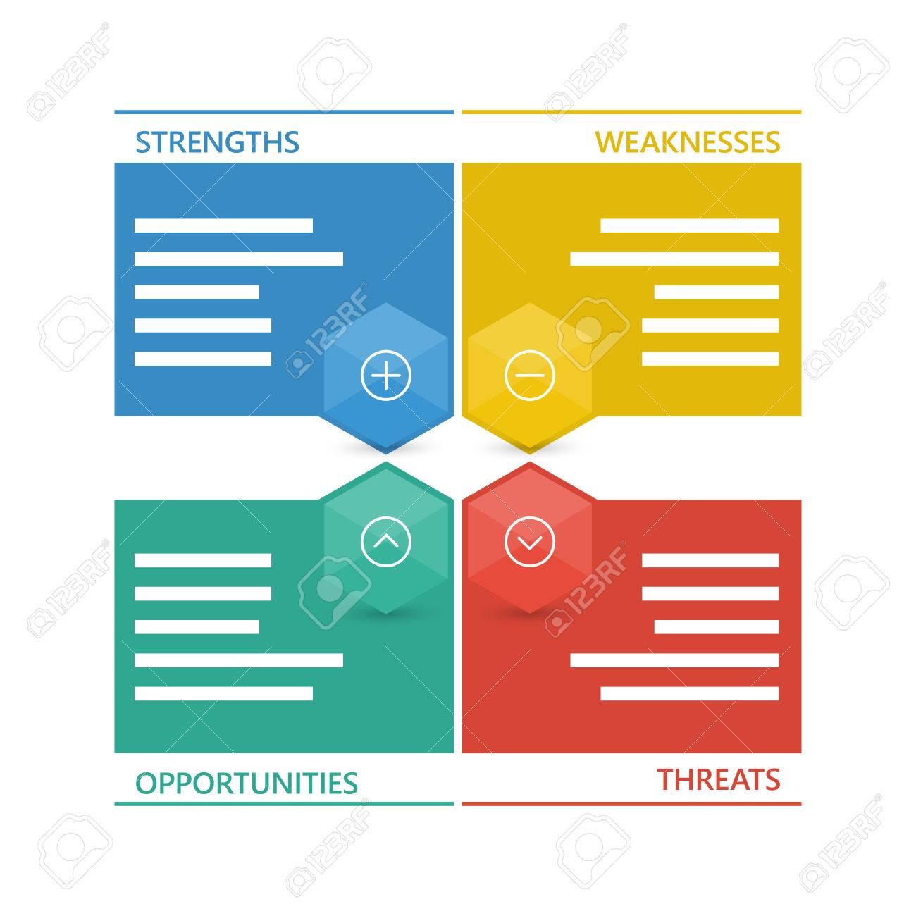 Colorful geometric swot business diagram chart. - 41727835