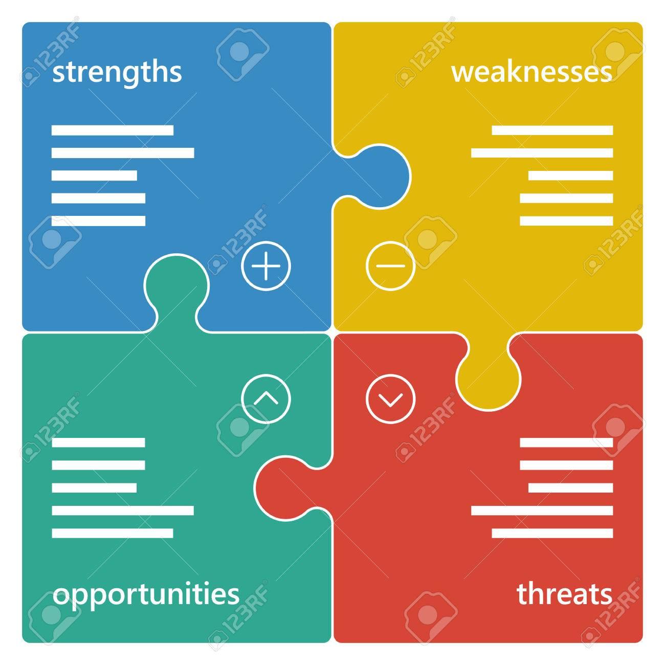 Colorful geometric swot business diagram chart. - 41727856