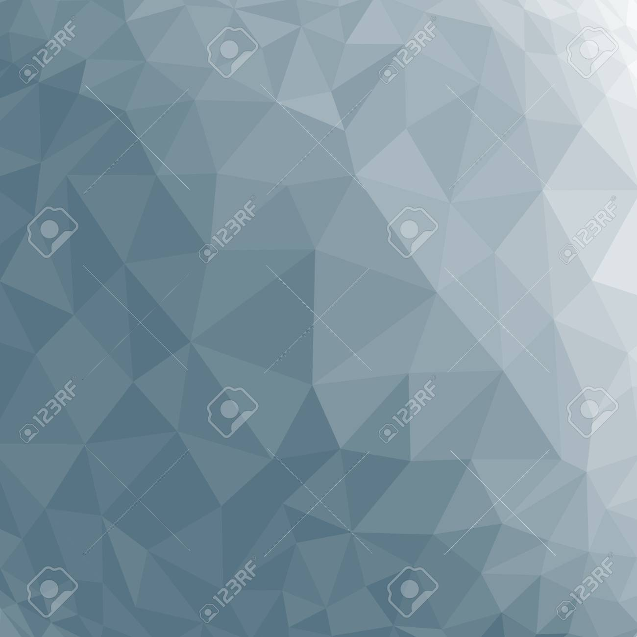 Blue abstract geometric rumpled triangular low poly style vector illustration graphic background - 42300433
