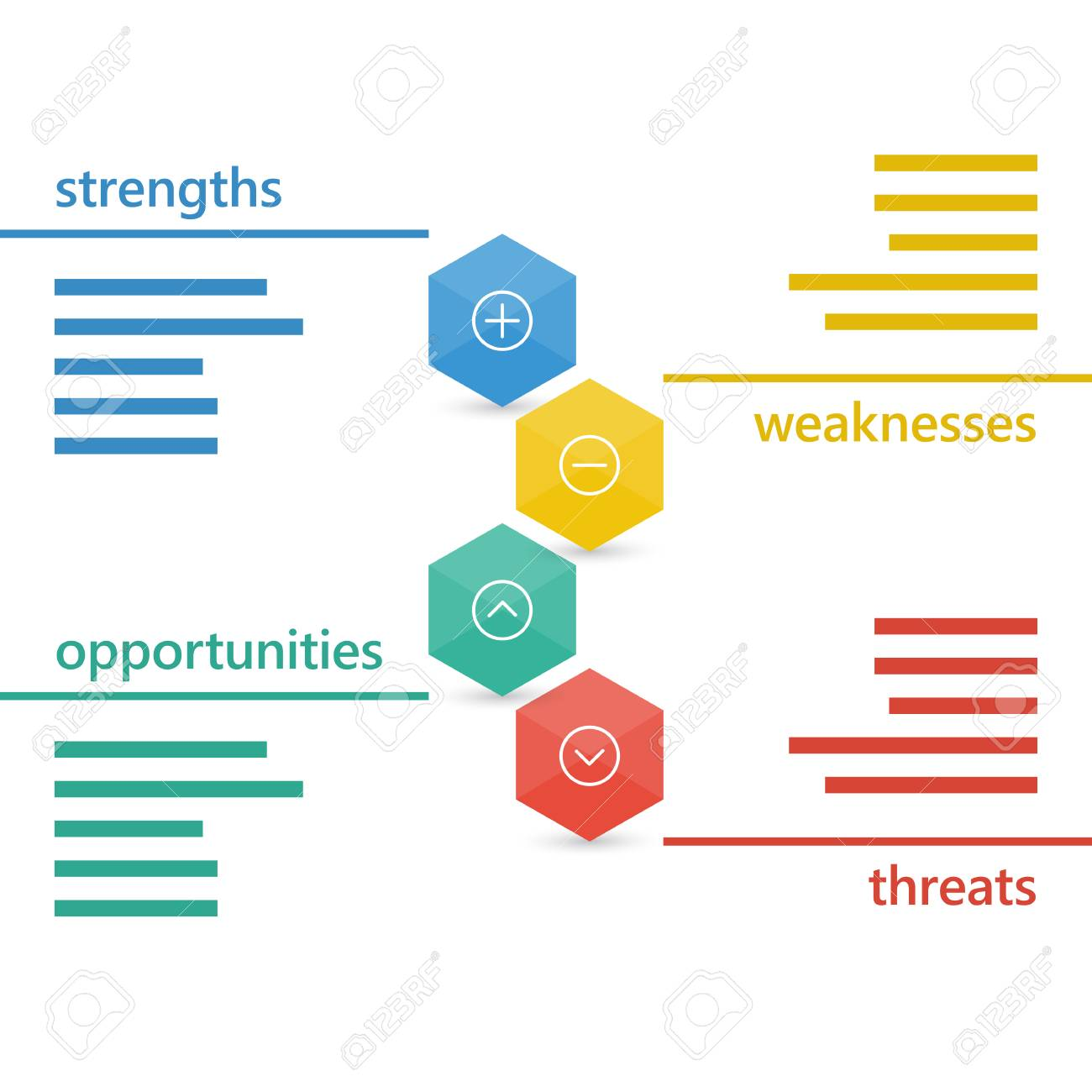 Colorful geometric swot business diagram chart. - 41739193
