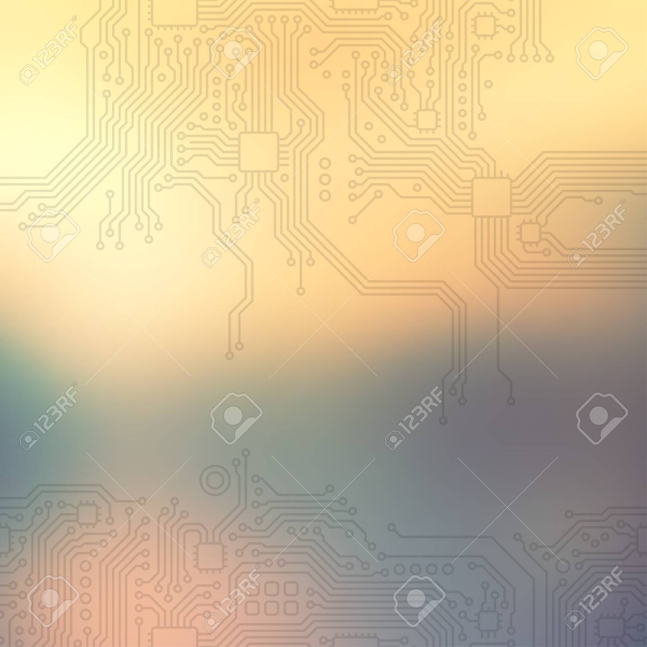 High-tech technology abstract background. - 41736941