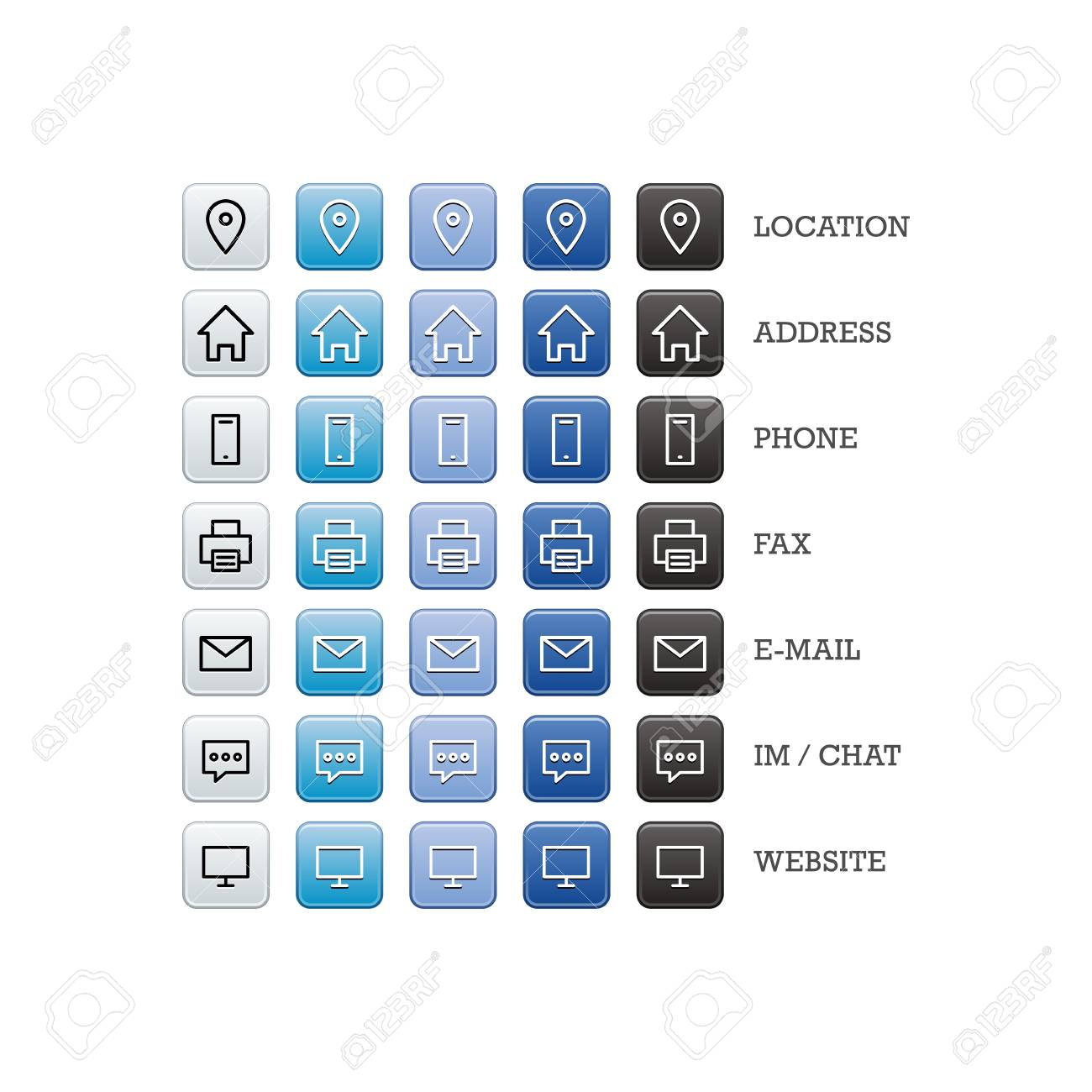 Multipurpose business card set of web icons for business finance multipurpose business card set of web icons for business finance and communication vector graphic colourmoves