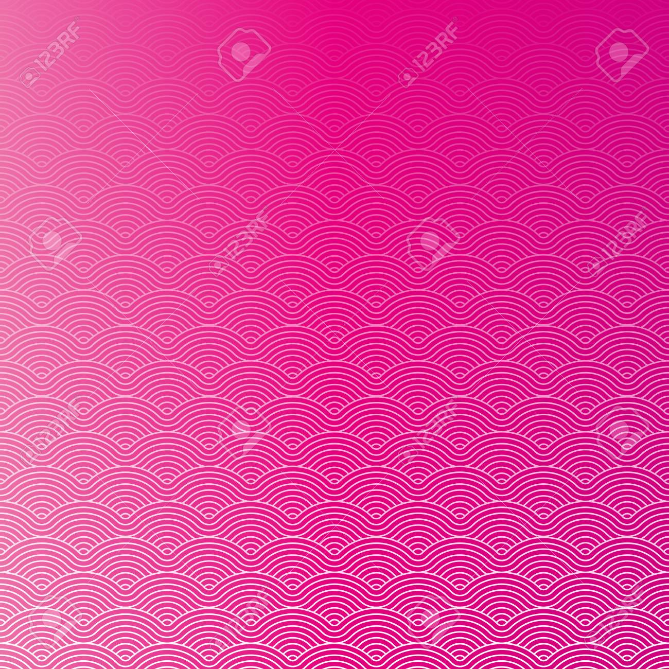 Colorful geometric repetitive vector curvy waves pattern texture background vector graphic illustration - 46085240