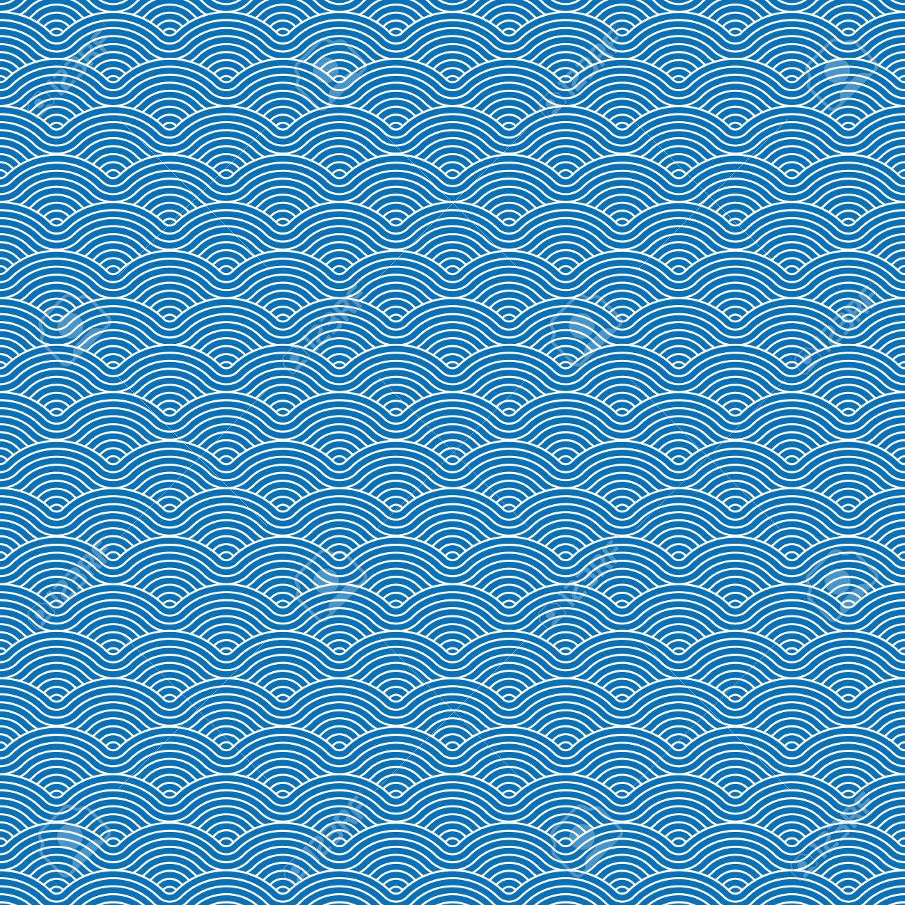 Colorful geometric repetitive vector curvy waves pattern texture background vector graphic illustration - 46085253