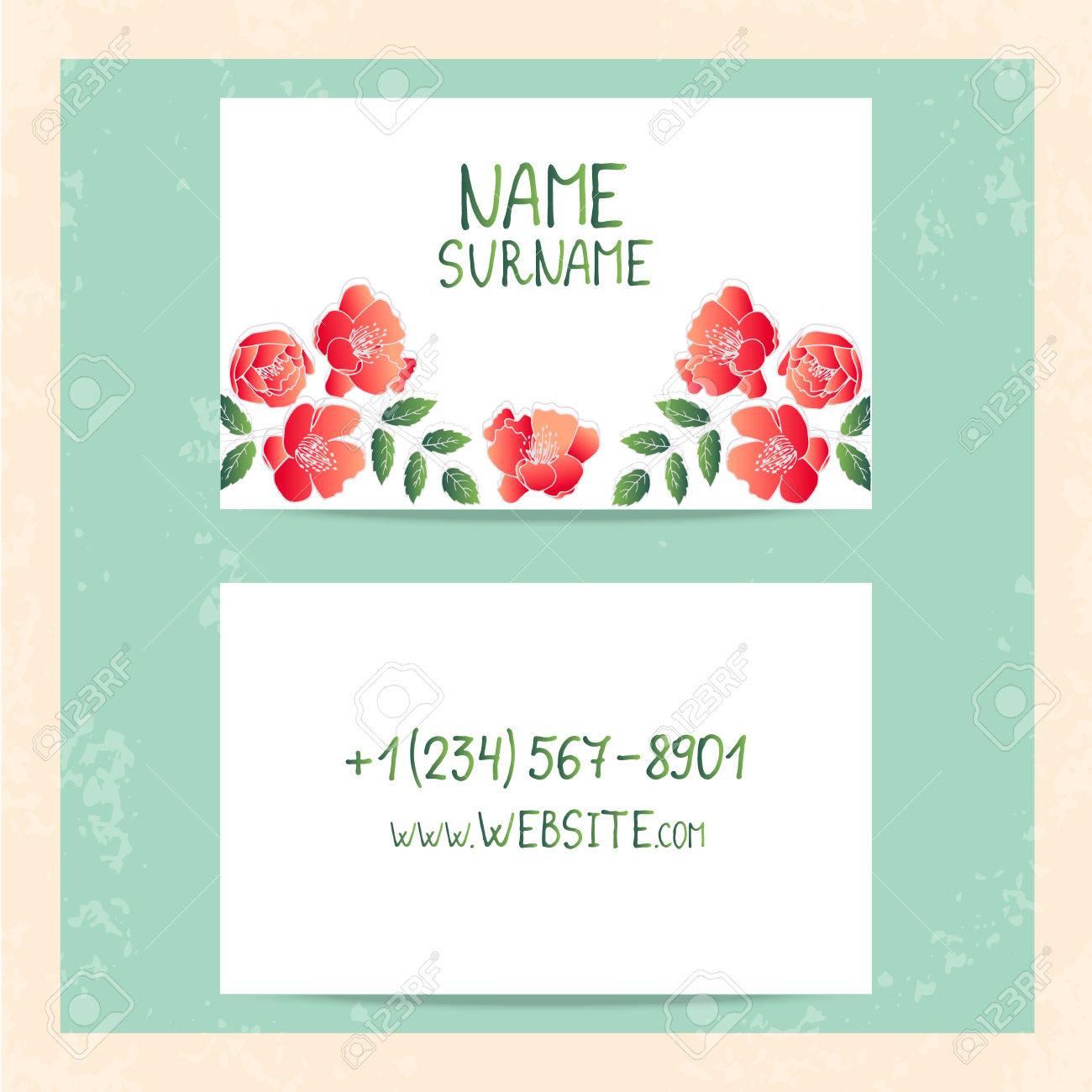 Carte De Visite Vintage Lments Dcoratifs Floraux Vintages