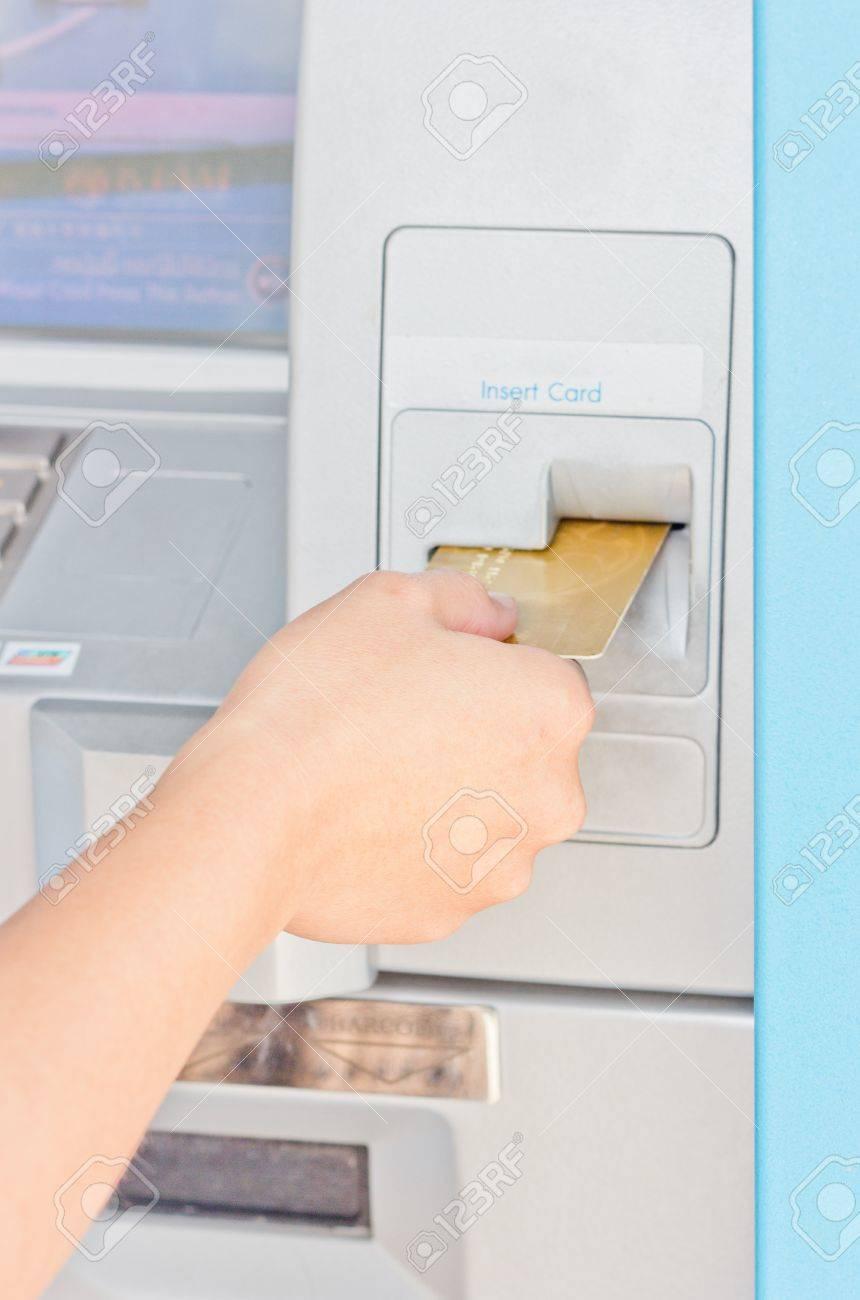 Automated teller machine close up - 14593442