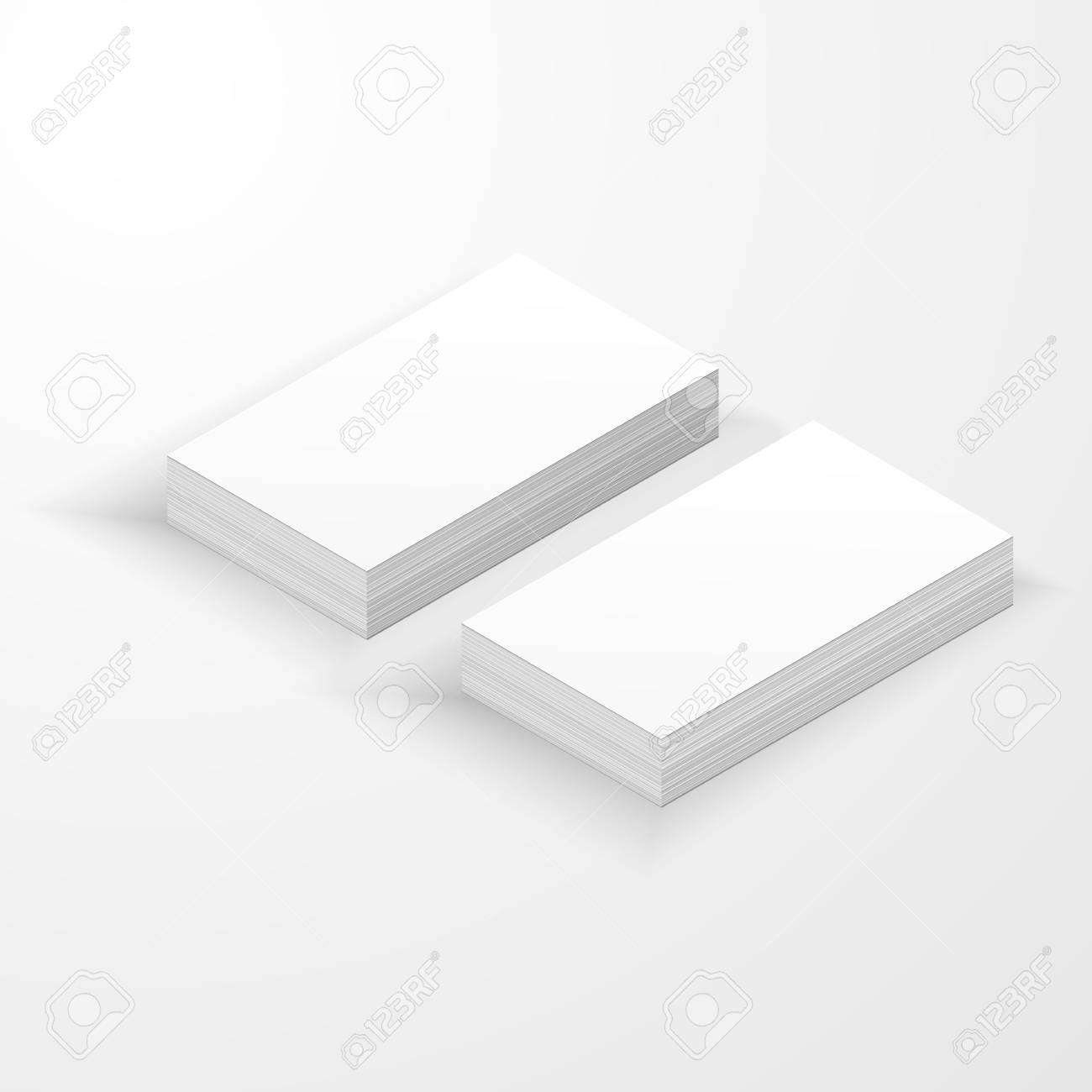 Blank business card mockup template created by vector royalty free blank business card mockup template created by vector stock vector 102049405 friedricerecipe Gallery