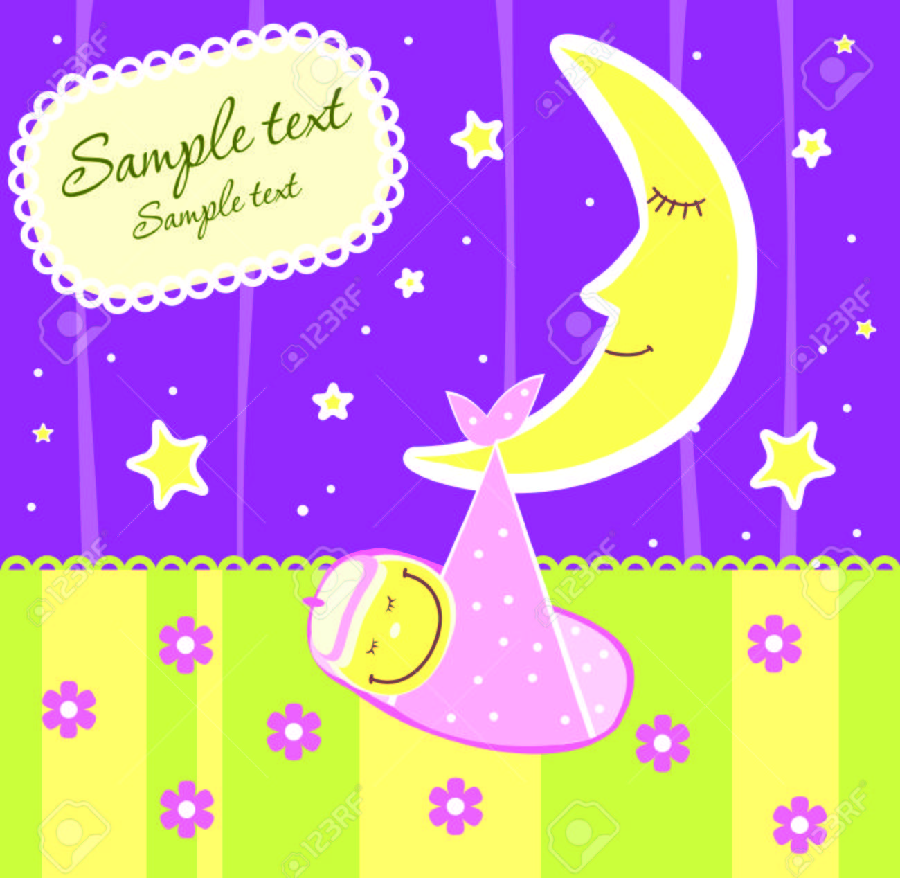 Baby arrival announcement card Stock Vector - 4503364