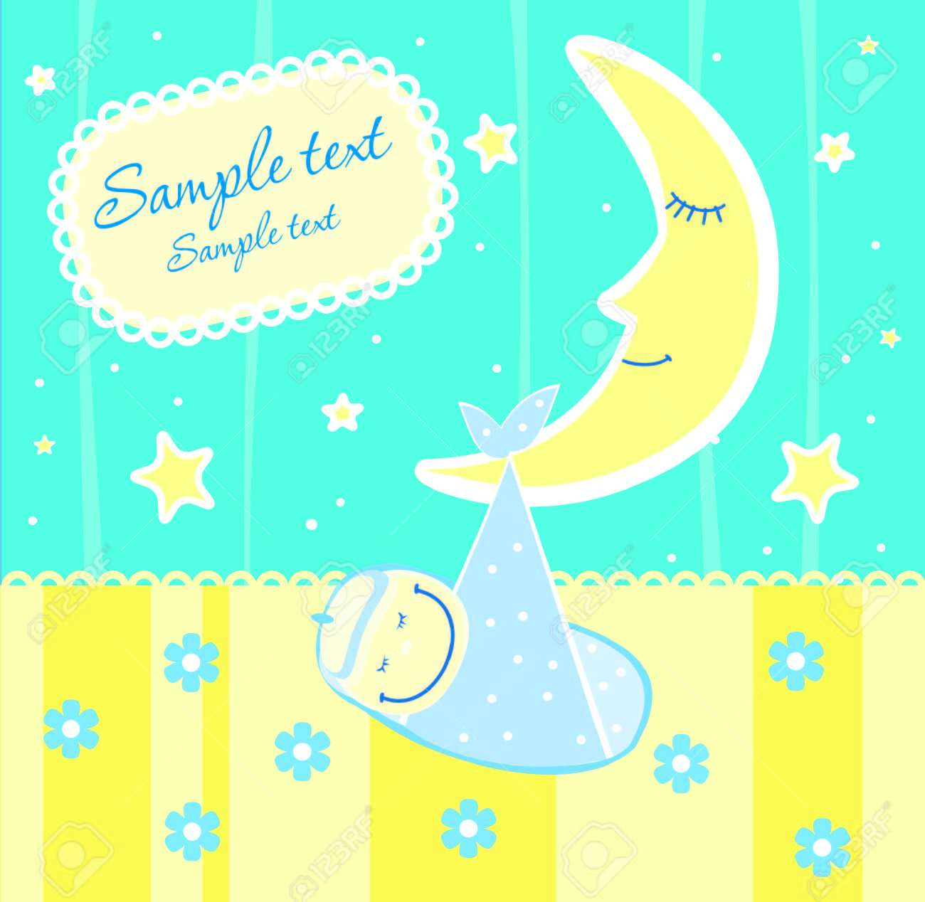 Baby arrival announcement card Stock Vector - 4503363