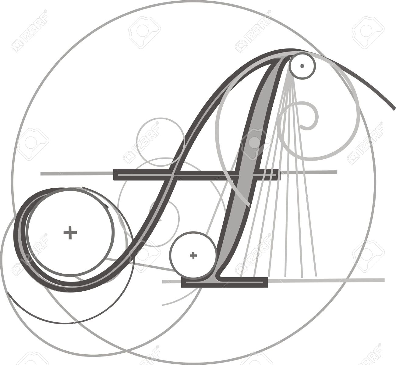 decorative architectural letter for design stock vector 8118334