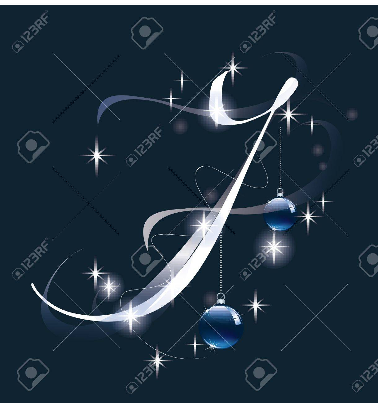 Decorative letter with decorations for Christmas design Stock Vector - 11599646