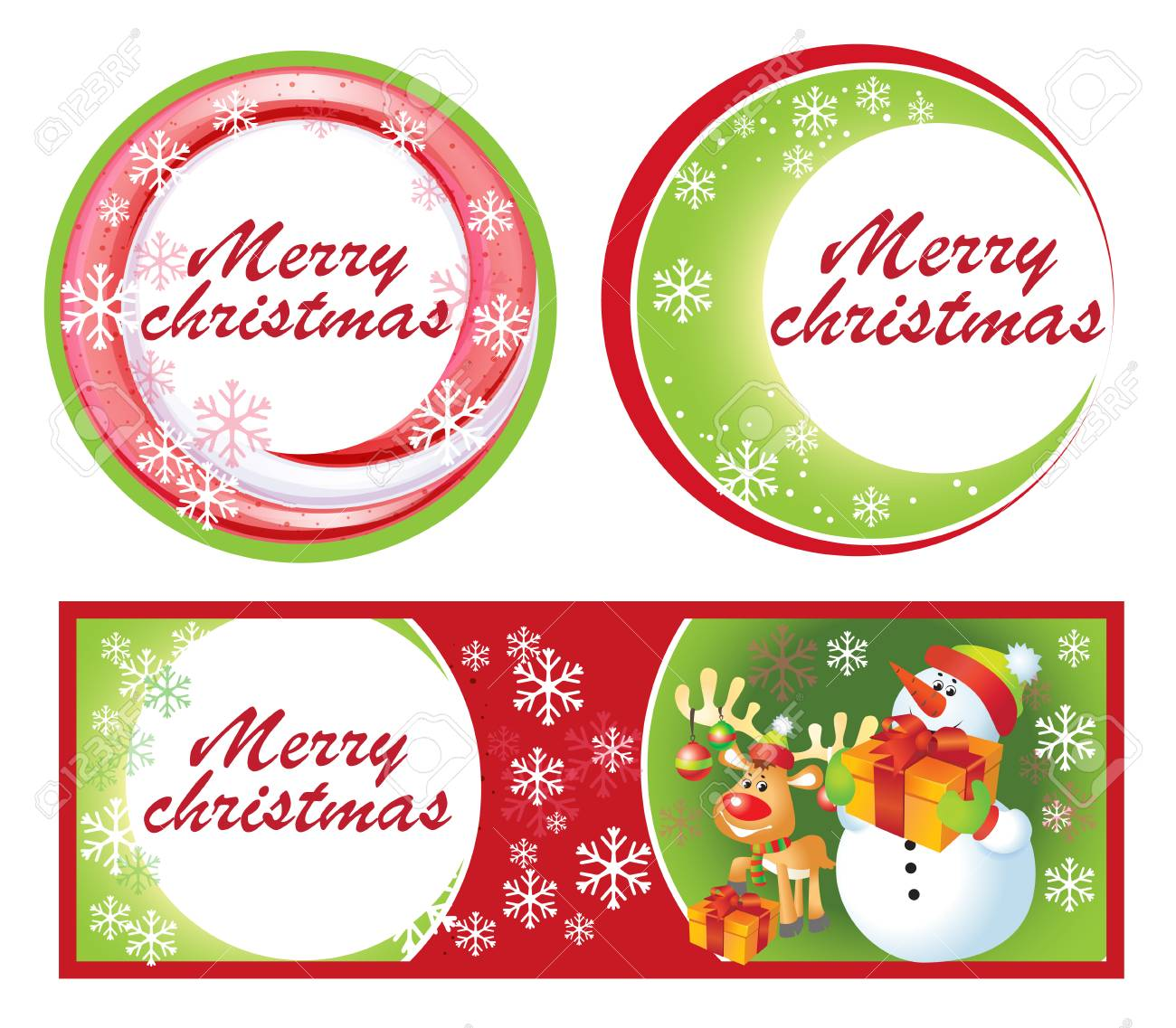 Christmas Greeting Card And Labels. Vector Royalty Free Cliparts ...