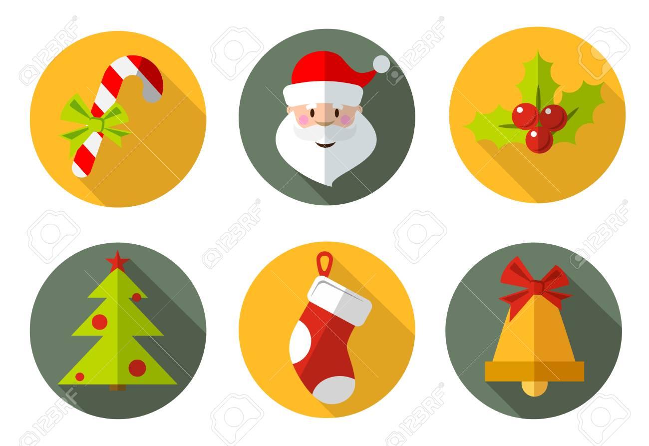 Symbols Of Christmas.Christmas Icons And Symbols Christmas Candy Santa Christmas