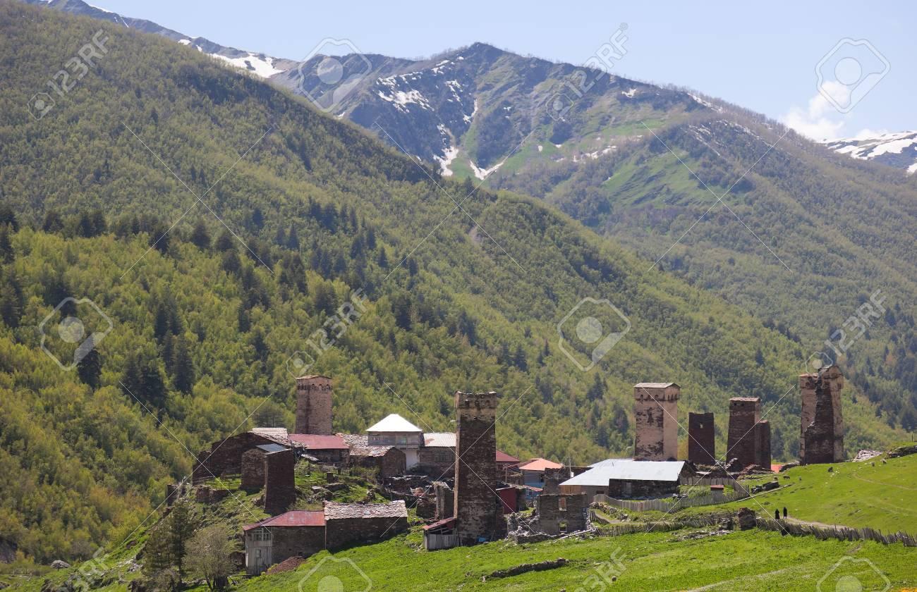 Ushguli - the highest inhabited village in Europe. Upper Svaneti. Georgia. Stock Photo - 9059811