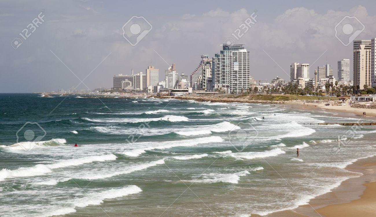 tel aviv israel october 19 2014 skyline beaches and