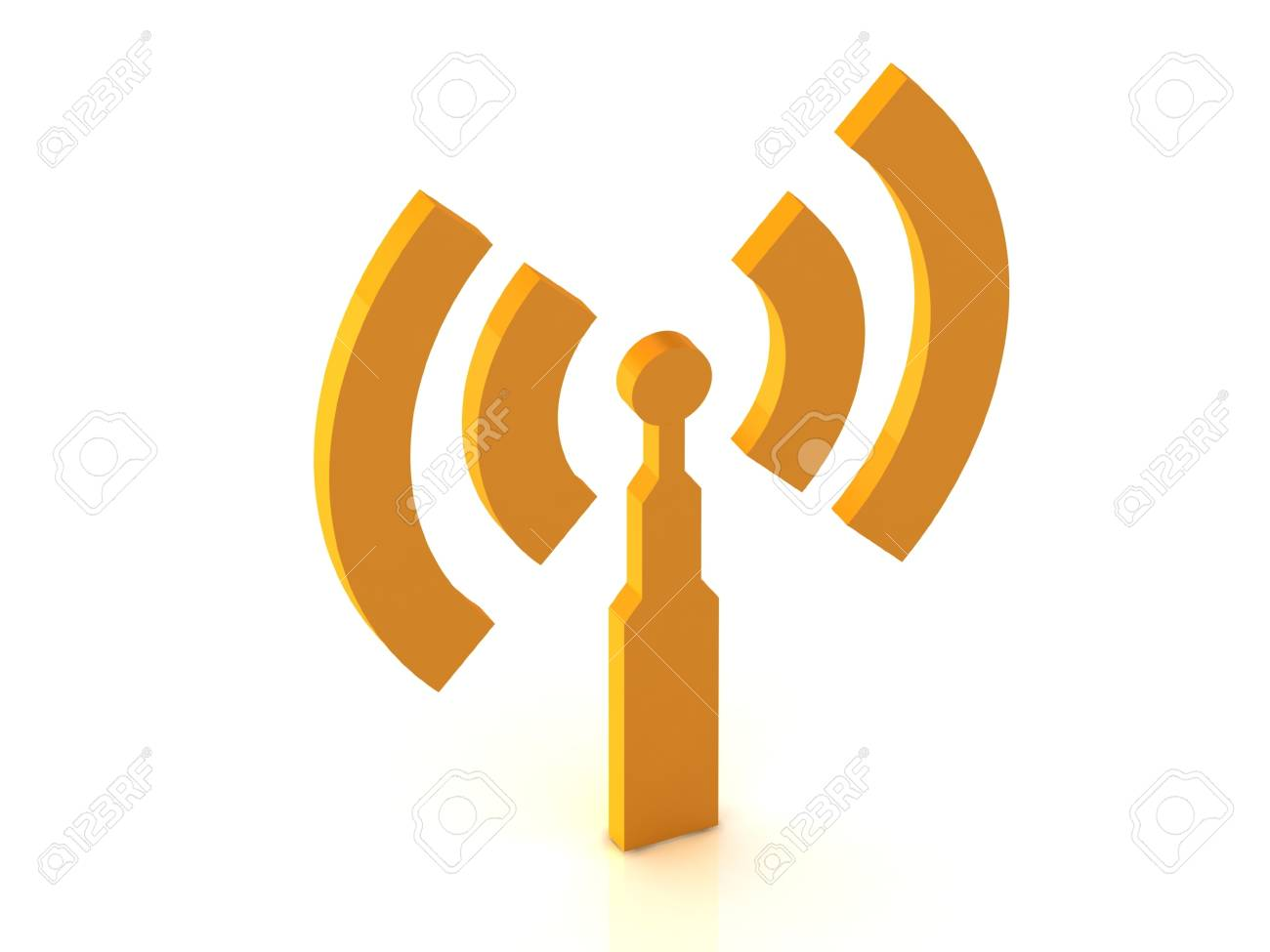 antenna RSS on white background, 3D rendered Illustration Stock Photo - 14630182