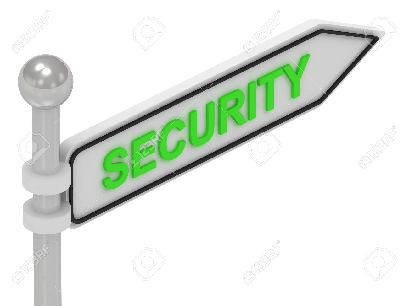 SECURITY arrow sign with letters on isolated white background Stock Photo - 14687305