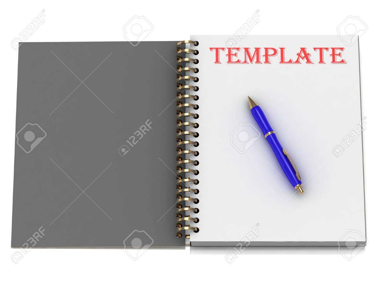 Plantilla De Word En La Página Notebook Y La Manilla Azul ...