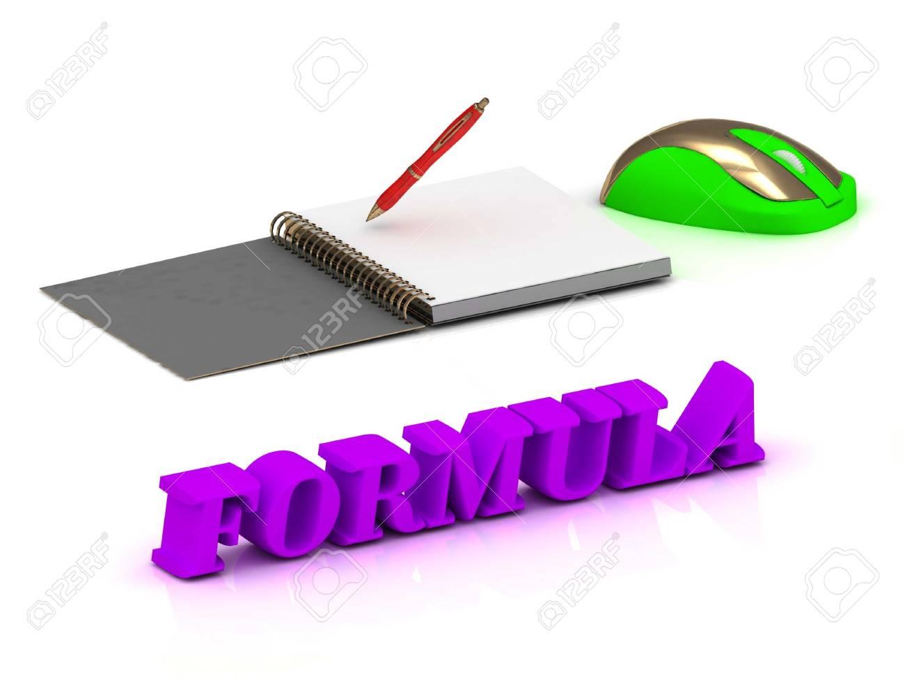 Formel Helle Volumen Brief Und Copybook Mit Rotem Stift Und Computer