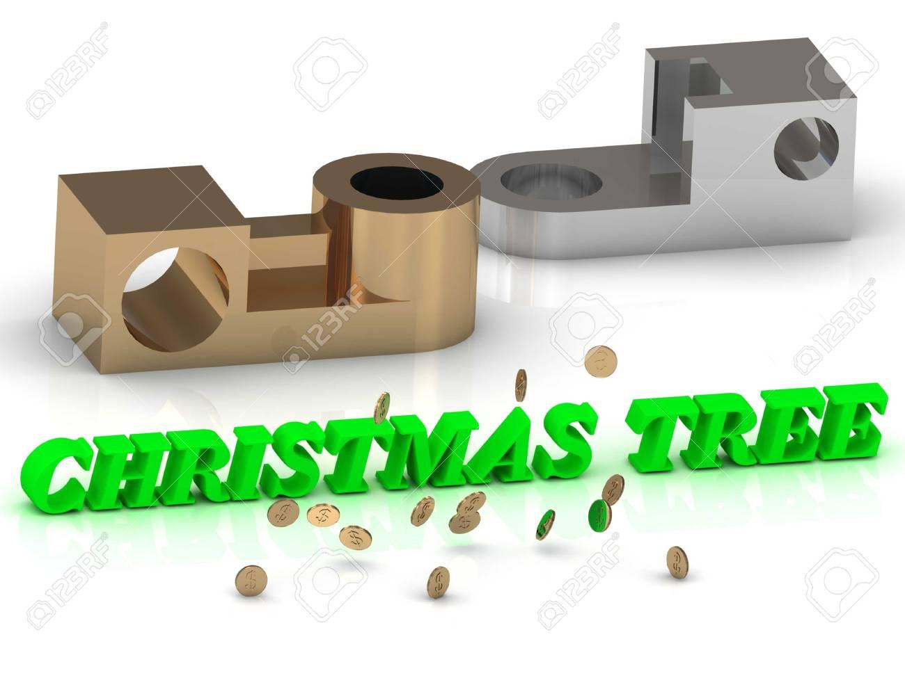 CHRISTMAS TREE - Worte Der Farbe Buchstaben Und Silber Details Und ...