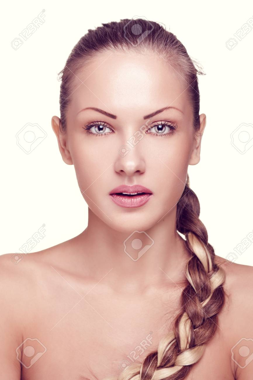 closeup portrait of a beautiful woman with fashion makeup Stock Photo - 15715015