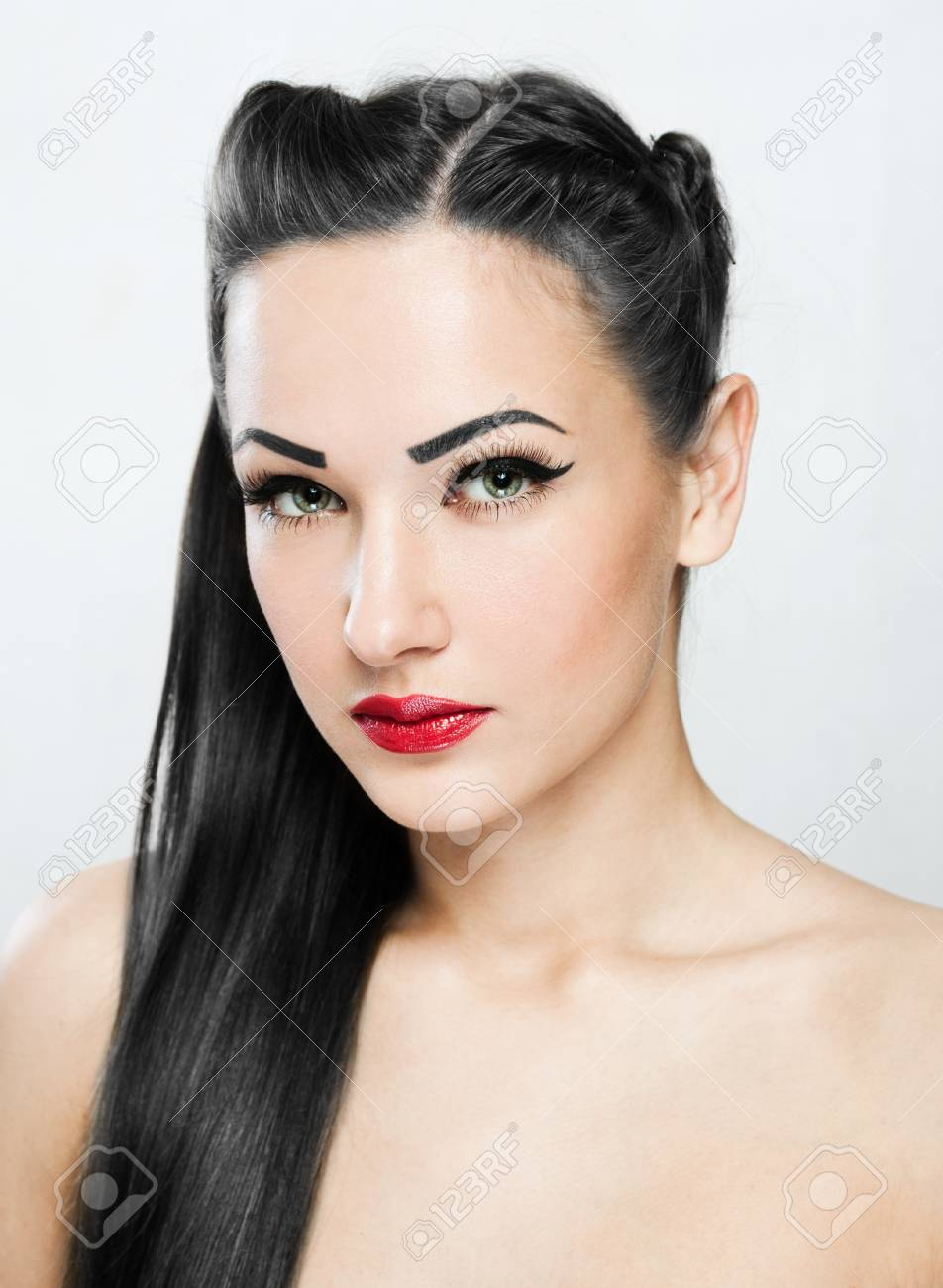 Beautiful Woman with Healthy Long Hair Stock Photo - 17753070