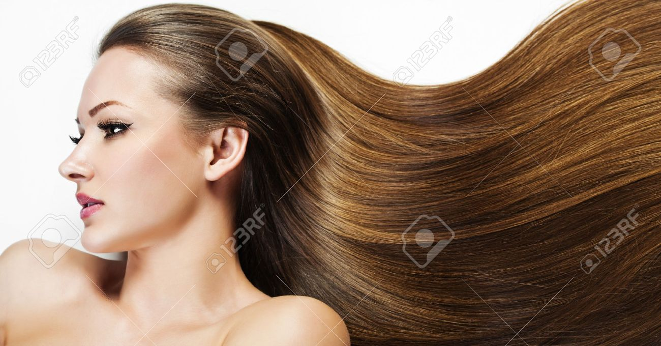 Stupendous Beautiful Brunette Girl Healthy Long Hair Beauty Model Woman Short Hairstyles For Black Women Fulllsitofus