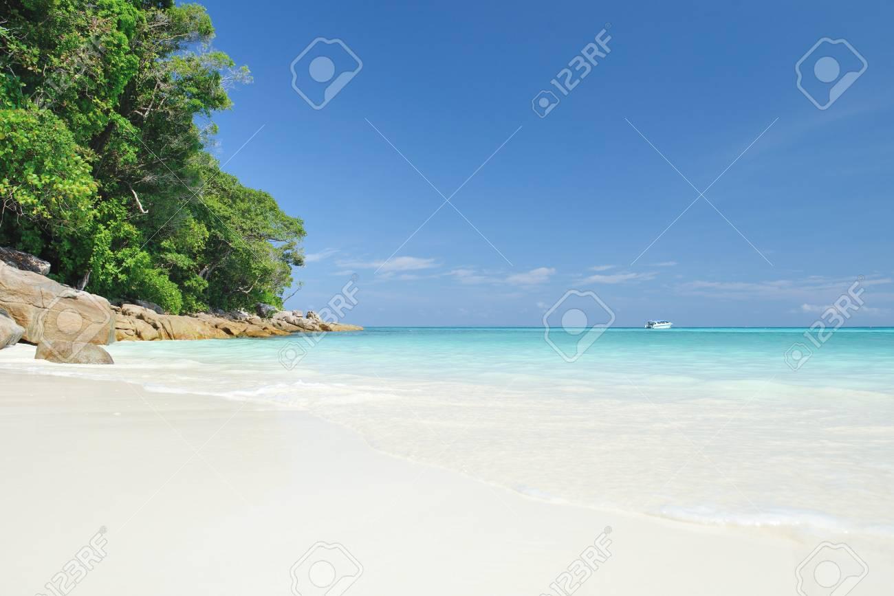 the Beautiful beach on Tachai island in Khao Lak Thailand - 21736945