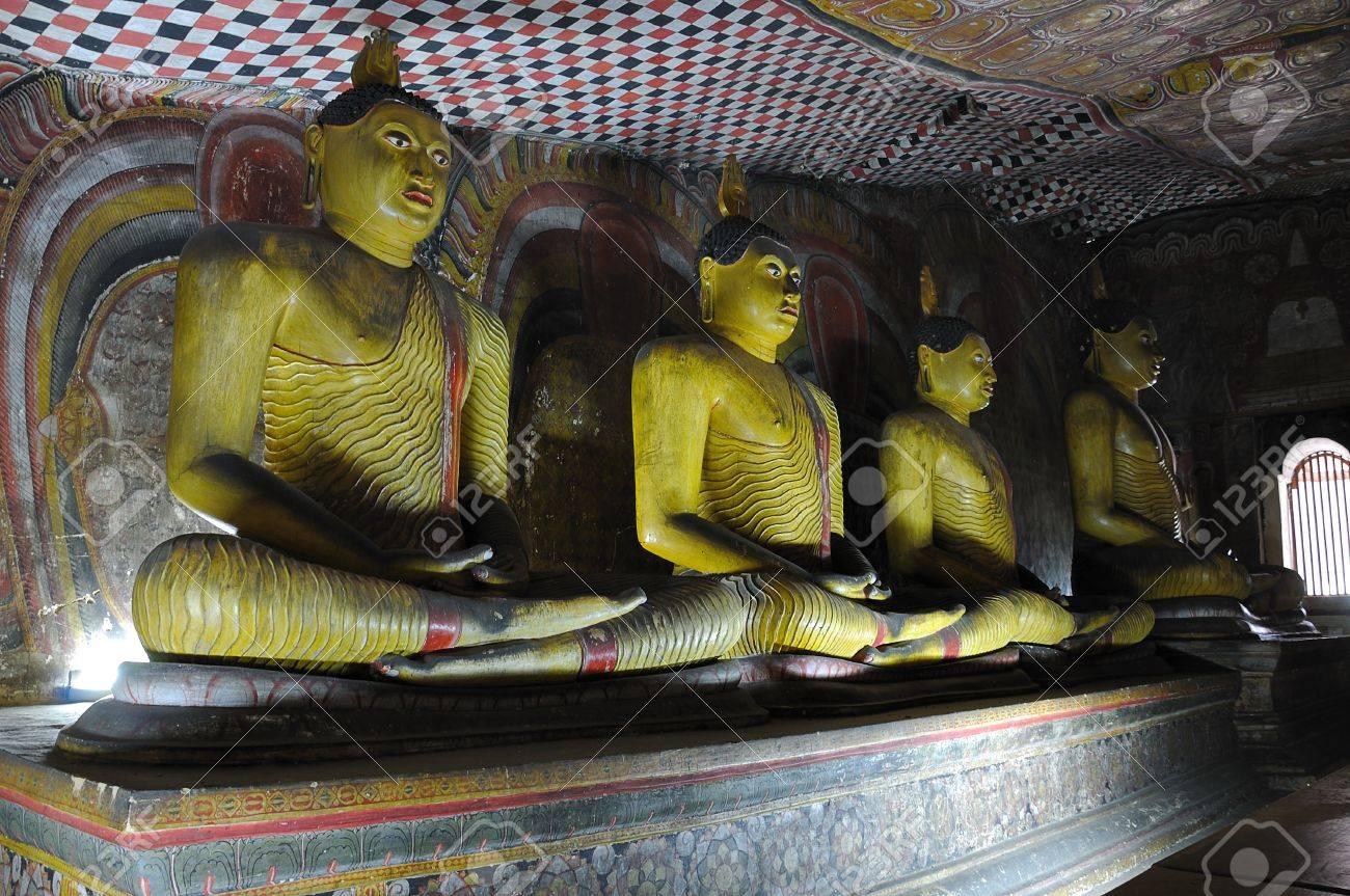 Rock temple in Dambulla, Sri Lanka Stock Photo - 13972198