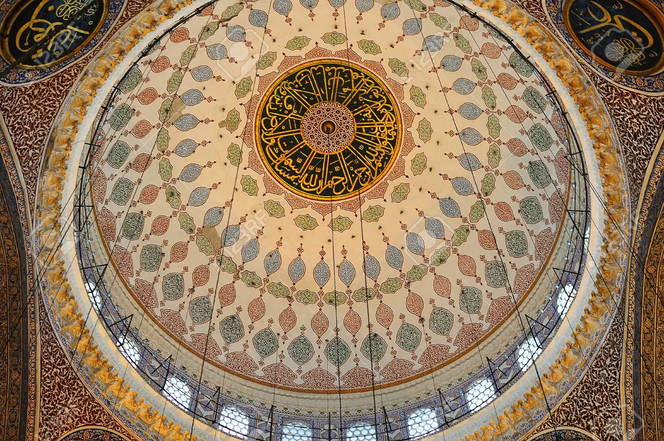 Interior of Yeni Cami Mosque in Istanbul Stock Photo - 15080720