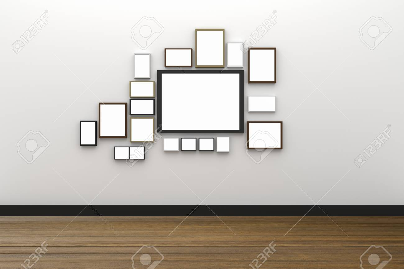 3D Rendering : Illustration Of Many Size Of Blank Photo Frame ...