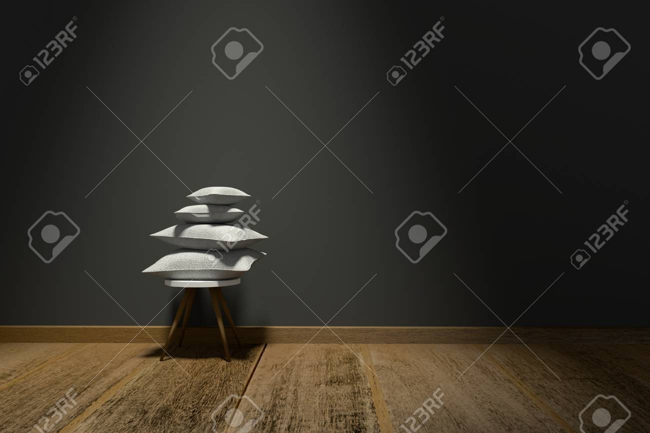 D rendering illustration of modern interior with chair and