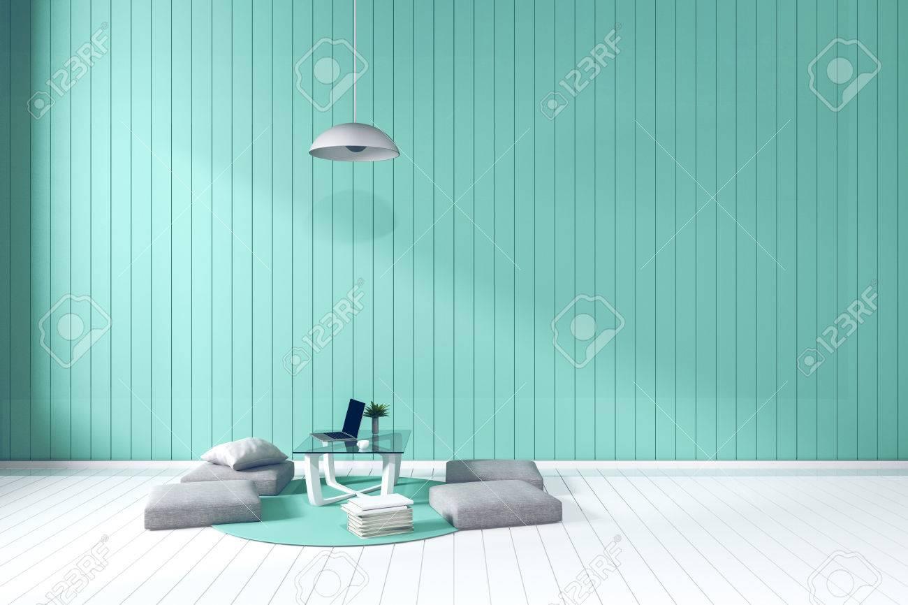3D Rendering: Wohnzimmer Minimalistischen Interieur Hellen Raum Mit ...