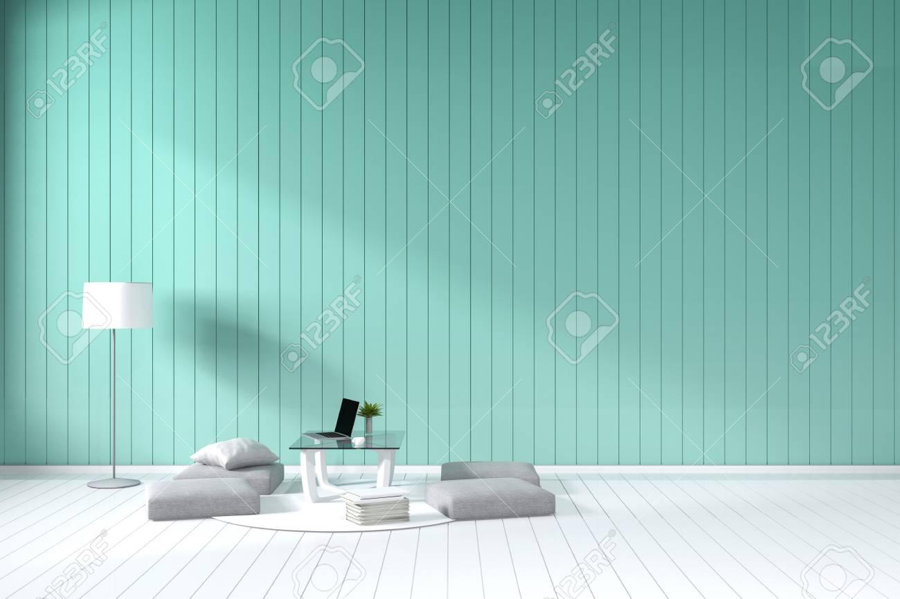 3d Rendering Wohnzimmer Minimalistischen Interieur Hellen Raum Mit