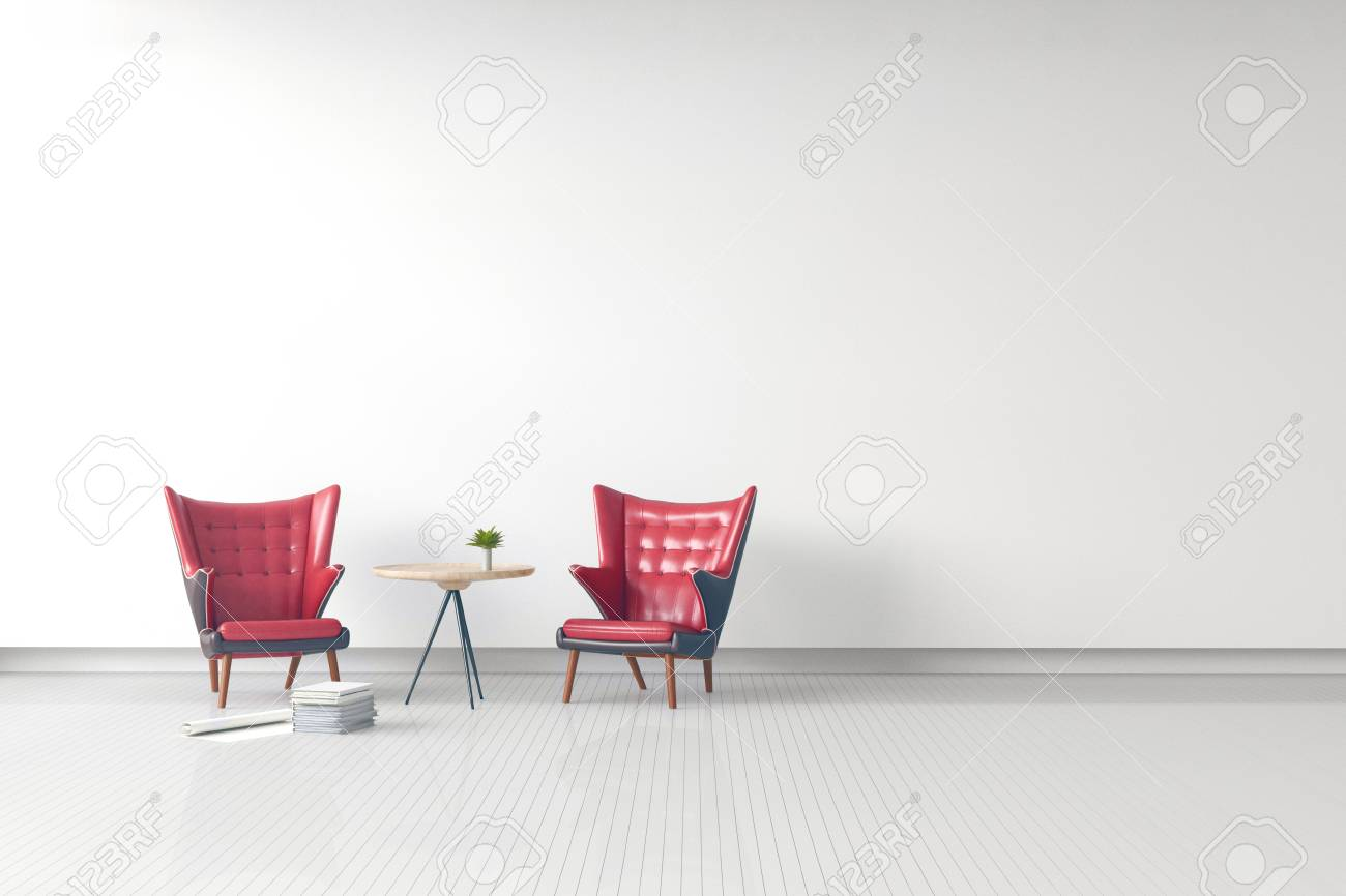 Rendu 3d : illustration de moderne intérieur salon classique en cuir canapé  classique en cuir contre le mur de béton noir avec des murs blancs de ...