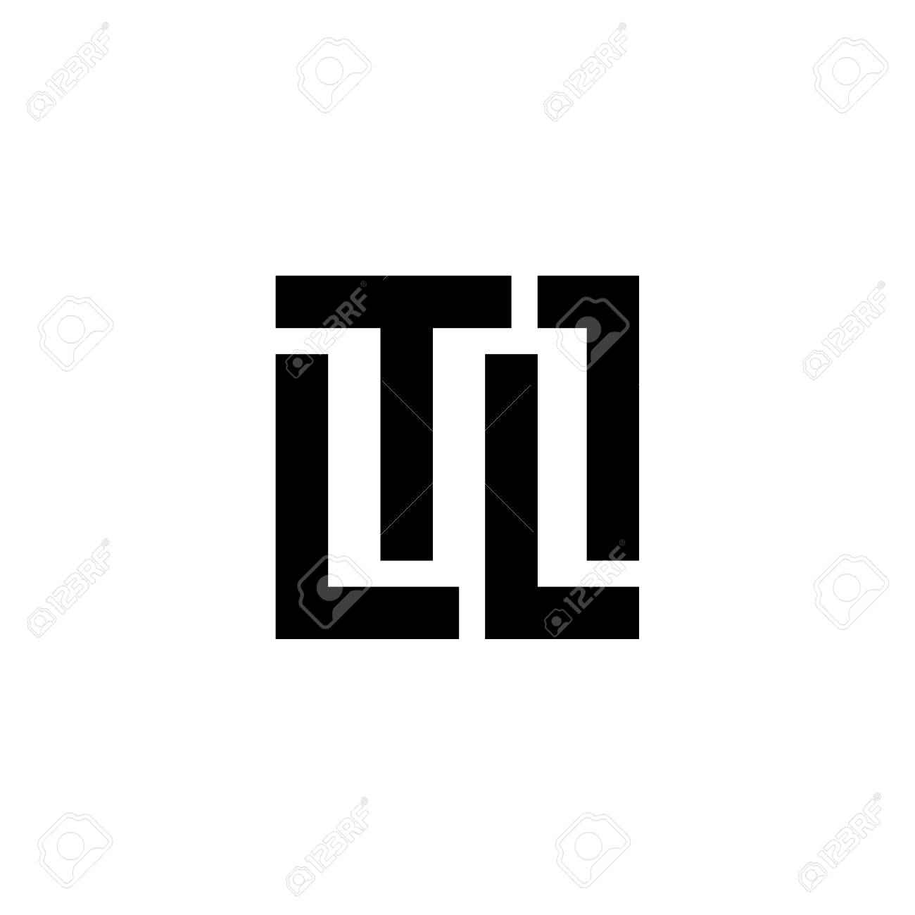 LETTER LOGO TL - 123154311