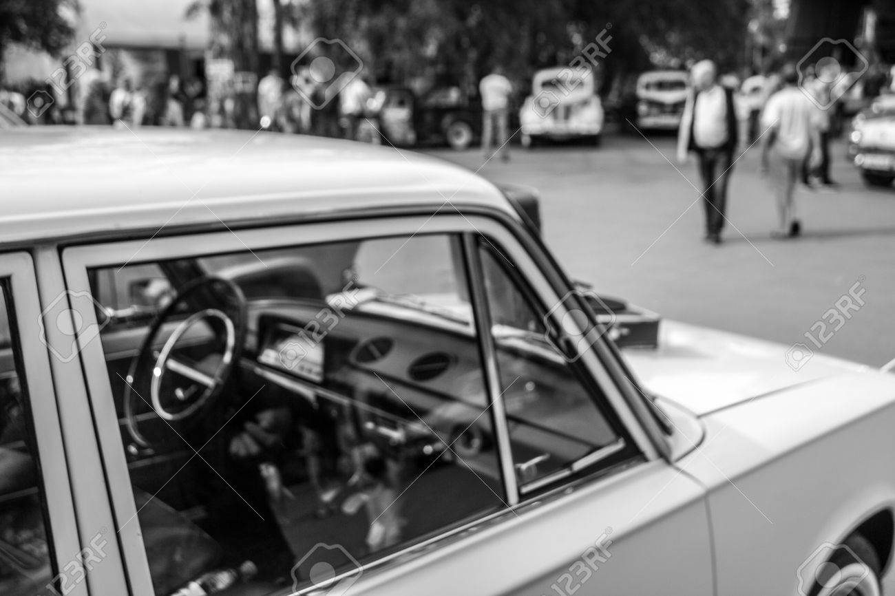 Very Beautiful Old Car With An Inside View At The Festival Of ...