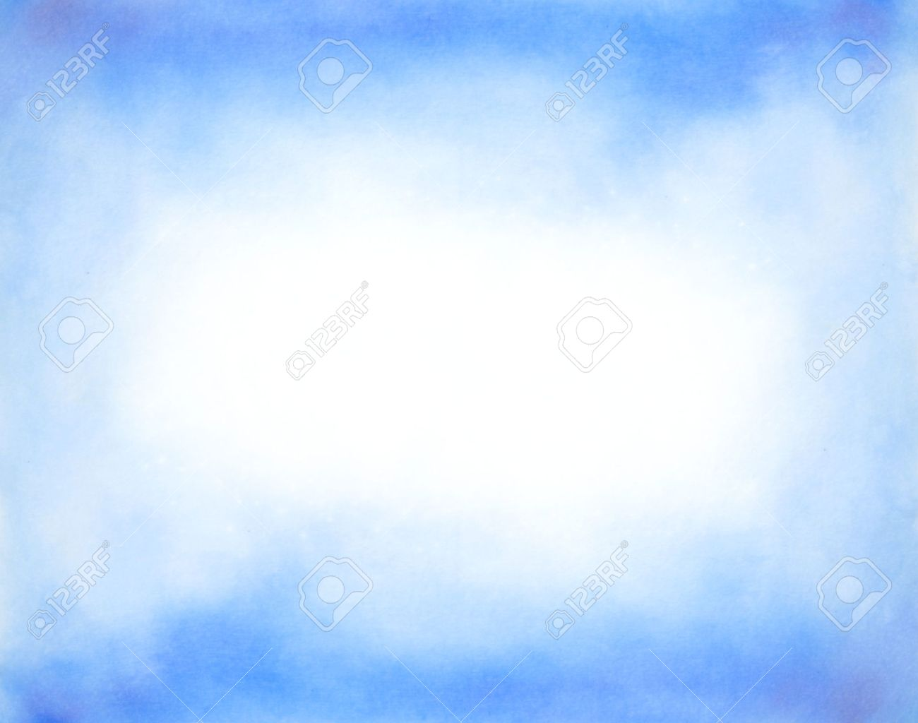 Abstract hand drawn watercolor background  blue sky and white clouds Stock Photo - 15098566