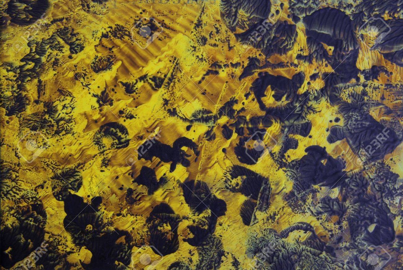 Abstract Yellow Paintings Abstract Hand Drawn Paint